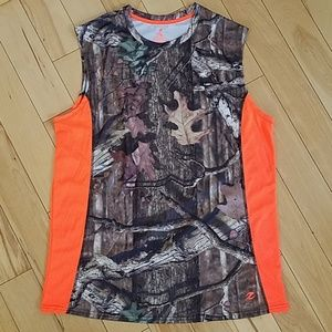 Other - Mossy Oak/Safety Orange Muscle Shiry